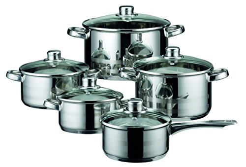 ELO Skyline Stainless Steel Kitchen Induction Cookware Pots and Pans Set