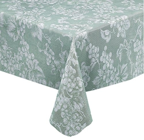 Grapevines Contemporary Grape Print Vinyl Tablecloth