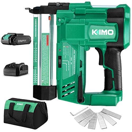 KIMO 20V 18 Gauge Cordless Brad Nailer/Stapler Kit