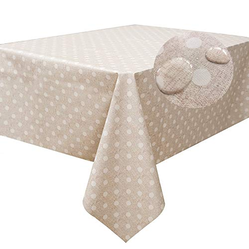LEEVAN Heavy Weight Vinyl Tablecloth