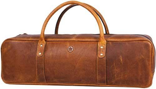 Leather Knife Roll Storage Bag